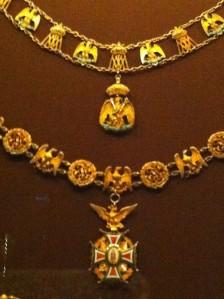 Insignes de l'Ordre impérial de Guadalupe Epoque de Maximilien de Habsbourg Hofburg, Vienne