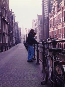 Amsterdam 1992, ses canaux, ses vélos (bien avant le Vélib' !)