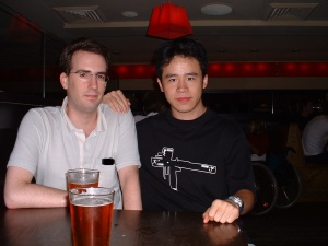 Night Out in Cambridge (MA), with my friend Charles, from NYC, Summer 2004
