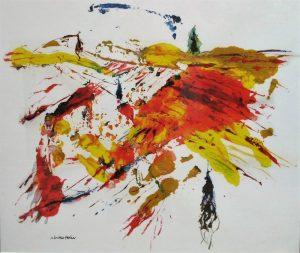 """Je suis l'heureux acquéreur des """"Vignes de Kandinski"""", de l'artiste Neville Paine (septembre 2015)"""